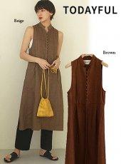 TODAYFUL (トゥデイフル)<br>Herringbone Linen Vest  20春夏.【12010422】ベスト   20es