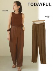 TODAYFUL (トゥデイフル)<br>Herringbone Linen Trousers  20春夏.【12010706】パンツ  20es