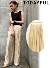 TODAYFUL (トゥデイフル)<br>Delave Linen Trousers  20春夏.【12010726】パンツ