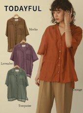 TODAYFUL (トゥデイフル)<br>Silk Boyfriend Shirts  20春夏.【12010432】シャツ・ブラウス