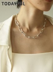 TODAYFUL (トゥデイフル)<br>Oval Chain Necklace (Silver925)  20春夏.予約【12010950】ネックレス  受注会