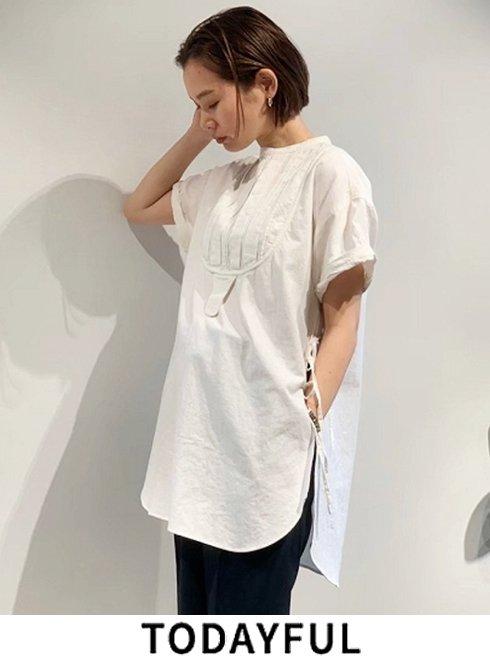 TODAYFUL (トゥデイフル)<br>Halfsleeve Dress Shirts 21春夏.予約2【12010421】シャツ・ブラウス  入荷予定 : 5月中旬〜 秋受注会 ★