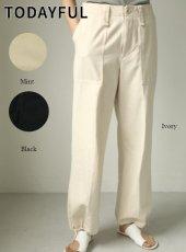 TODAYFUL (トゥデイフル)<br>Cottontwill Rough Pants  20春夏.予約【12010725】パンツ  受注会