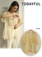 TODAYFUL (トゥデイフル)<br>Organdy China Shirts  20春夏.予約【12010430】シャツ・ブラウス  受注会