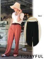 TODAYFUL (トゥデイフル)<br>Tuck Tapered Trousers  20春夏.【12010724】パンツ