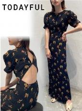 TODAYFUL (トゥデイフル)<br>Georgette Flower Dress  20春夏.予約【12010335】フレアワンピース  受注会
