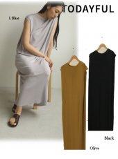 TODAYFUL (トゥデイフル)<br>Pencil Knit Dress  20春夏.【12010333】マキシワンピース