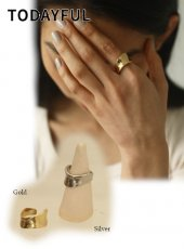 TODAYFUL (トゥデイフル)<br>Wide Curve Ring (Silver925)  20春夏.予約【12010944】リング  受注会