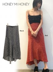 Honey mi Honey (ハニーミーハニー)<br>heart print skirt  20春夏.予約【20S-TA-21】ロング・マキシスカート