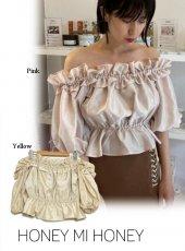 Honey mi Honey (ハニーミーハニー)<br>frill offshoulder blouse  20春夏.予約【20S-TA-24】シャツ・ブラウス