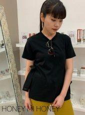 Honey mi Honey (ハニーミーハニー)<br>side twinribbon T-shirt  20春夏.予約【20S-TA-27】Tシャツ