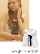 Honey mi Honey (ハニーミーハニー)<br>sailor nosleeve blouse  20春夏.予約【20S-TA-39】シャツ・ブラウス