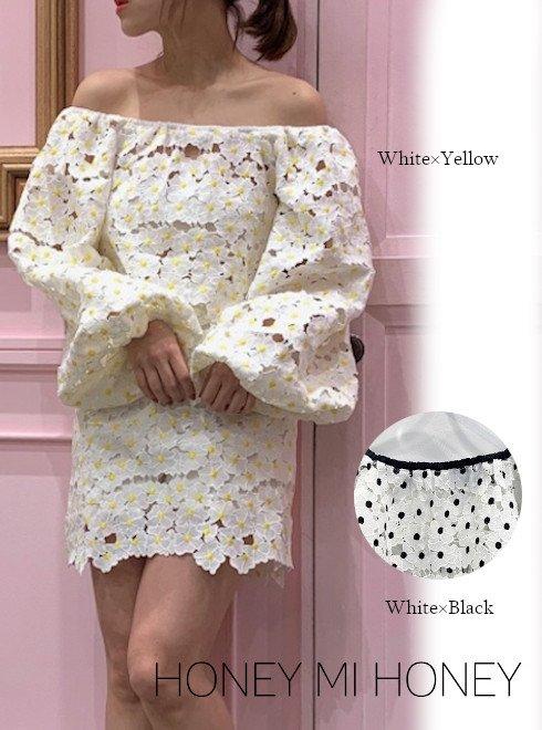 Honey mi Honey (ハニーミーハニー)<br>pansylace blouse  20春夏.【20S-TA-41】シャツ・ブラウス  20es