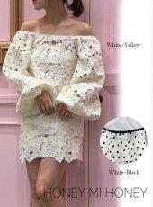 Honey mi Honey (ハニーミーハニー)<br>pansylace blouse  20春夏.【20S-TA-41】シャツ・ブラウス