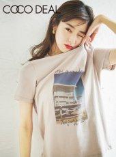 COCODEAL (ココディール)<br>フォトプリントTシャツ  20春夏.【70321383】Tシャツ