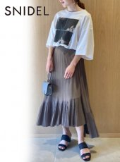 snidel (スナイデル)<br>イレギュラープリーツスカート  20春夏.【SWFS202087】フレアスカート