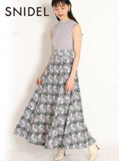 snidel (スナイデル)<br>コットンボリュームフレアプリントスカート  20春夏.【SWFS202095】フレアスカート