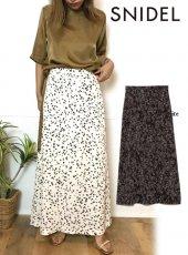 snidel (スナイデル)<br>バリエーションプリントサテンスカート  20春夏.【SWFS203152】フレアスカート