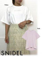 snidel (スナイデル)<br>フォイルプリントTシャツ  20春夏.【SWCT203148】Tシャツ