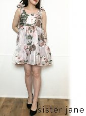 sister jane (シスタージェーン)<br>Likely Lady Floral Mini Dress  20春夏.【21SJ03DR1224PNK】フレアワンピース