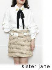 sister jane (シスタージェーン)<br>Sunflower Melody Ruffle Sleeve Shirt  20春夏.【21SJ03BL923IVO】シャツ・ブラウス