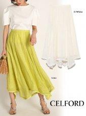 CELFORD (セルフォード)<br>シアー刺繍スカート  20春夏.【CWFS202023】フレアスカート
