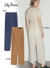 Lily Brown (リリーブラウン)<br>トグル付きストレートパンツ  20春夏.【LWFP202060】パンツ