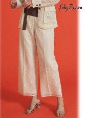 Lily Brown (リリーブラウン)<br>フラワーレースパンツ  20春夏.【LWFP202104】パンツ