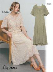 Lily Brown (リリーブラウン)<br>刺繍シフォン2WAYワンピース  20春夏.【LWFO202057】マキシワンピース