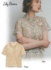 Lily Brown (リリーブラウン)<br>オリエンタル刺繍ブラウス  20春夏.【LWFT202029】シャツ・ブラウス