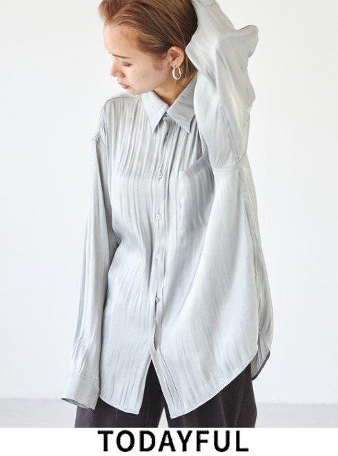 TODAYFUL (トゥデイフル)<br>Crepesatin Over Shirts  21秋冬【12020402 12120404】シャツ・ブラウス