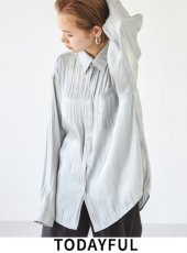 TODAYFUL (トゥデイフル)<br>Crepesatin Over Shirts  20秋冬予約【12020402】シャツ・ブラウス