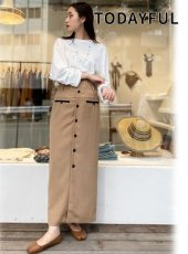 TODAYFUL (トゥデイフル)<br>Button Bustier Skirt  20秋冬【12020802】ロング・マキシスカート