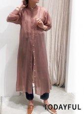 TODAYFUL (トゥデイフル)<br>Sheer Shirts Dress  20秋冬【12020317】マキシワンピース