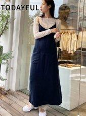 TODAYFUL (トゥデイフル)<br>Leatherstrap Satin Dress  20秋冬【12020305】マキシワンピース