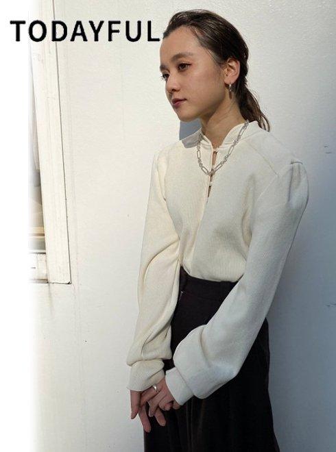 TODAYFUL (トゥデイフル)<br>Standcollar Rib Tops  20秋冬2【12020610】カットソー