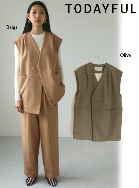 TODAYFUL (トゥデイフル)<br>Wool Twill Vest  20秋冬予約【12020105】ベスト