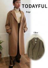 TODAYFUL (トゥデイフル)<br>Wool Twill Coat  20秋冬【12020008】ウールコート