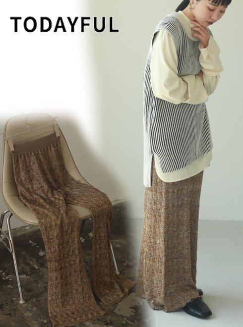 TODAYFUL (トゥデイフル)<br>Lace Knit Leggings  20春夏.予約2【12020705】パンツ 入荷時期:5月中旬~