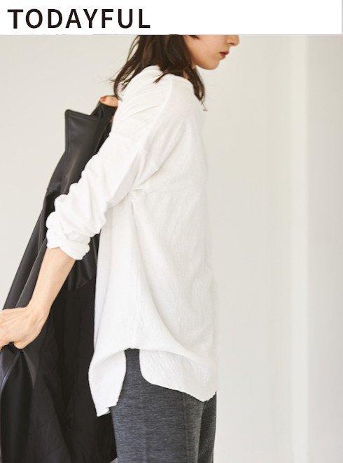 TODAYFUL (トゥデイフル)<br>Doubleface Slit Long T-Shirts  21秋冬3【12020607】Tシャツ