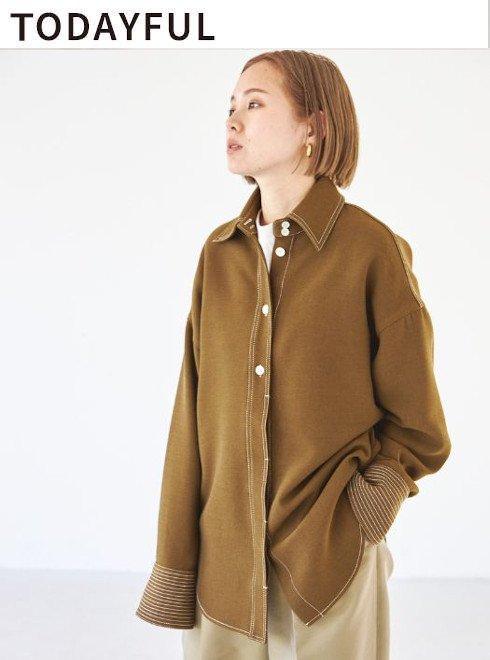 TODAYFUL (トゥデイフル)<br>Stitch Wool Shirts  21秋冬【12020413 12120415】シャツ・ブラウス