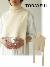 TODAYFUL (トゥデイフル)<br>Turtle Layered Vest  20秋冬【12020502】ニットトップス