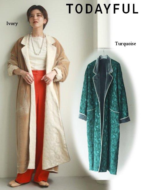 TODAYFUL (トゥデイフル)<br>Satin Jacquard Gown  20秋冬予約【12020007】ニットアウター