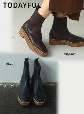 TODAYFUL (トゥデイフル)<br>Platform Leather Boots  20秋冬予約2【12021009】ブーツ 入荷時期:12月中旬〜
