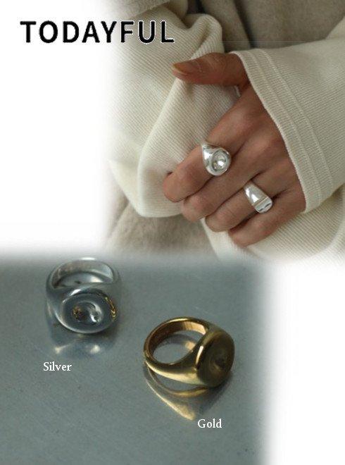 TODAYFUL (トゥデイフル)<br>Circle Dent Ring  20秋冬予約【12020918】リング