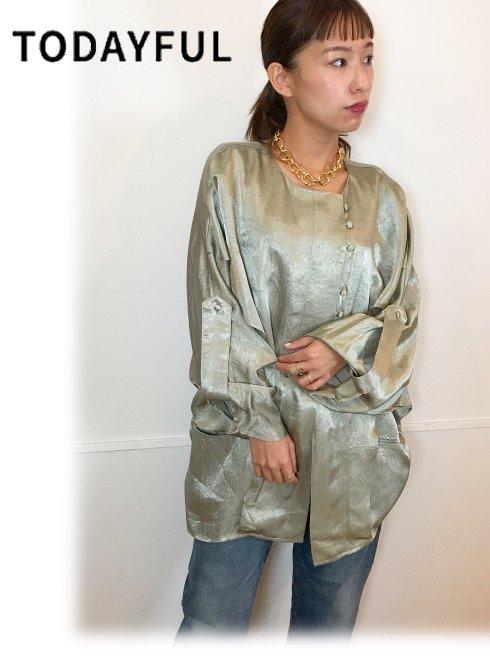 TODAYFUL (トゥデイフル)<br>Vintagesatin Frill Shirts  20秋冬【12020407】シャツ・ブラウス  20fs