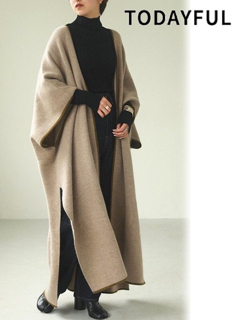 TODAYFUL (トゥデイフル)<br>Doubleface Knit Gown  20秋冬【12020509】ニットアウター