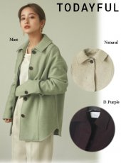 TODAYFUL (トゥデイフル)<br>'Wool Shirts Jacket'  20秋冬【12020107】ジャケット