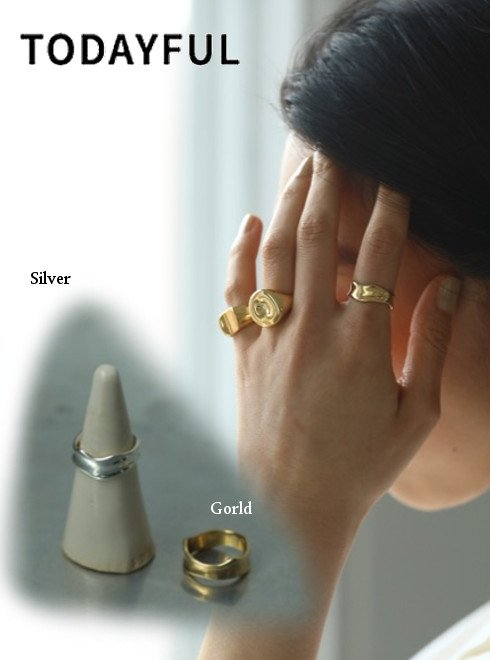TODAYFUL (トゥデイフル)<br>Metal Curve Ring(Silver925)  20秋冬予約【12020901】リング