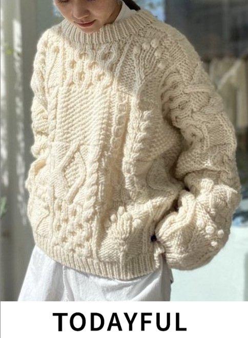 TODAYFUL (トゥデイフル)<br>Pattern Hand Knit  21秋冬予約2【12020513 12120523】ニットトップス 入荷予定 : 10月中旬〜